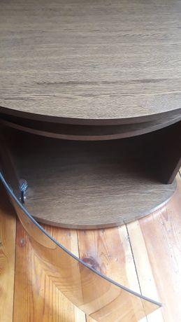 Szafka tv PRL szkło stolik na telewizor