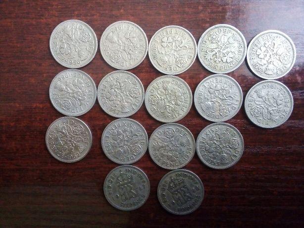 Moneta 6 pensów Anglia