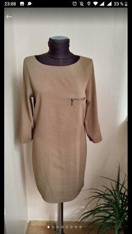 Классное платье цвета хаки