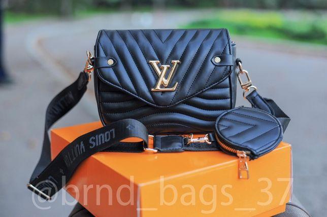 Сумочка Louis Vuitton 2 в 1, клатч, сумка через плечо, женская