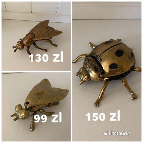 żuk chrząszcz biedronka  mucha osa z mosiadzu