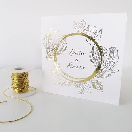 Zaproszenia ślubne w stylu GLAMOUR magnoliowy ring