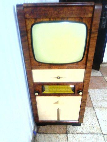 Антиквар, ретро телевизор львів 2, телерадиола ламповий ч\б