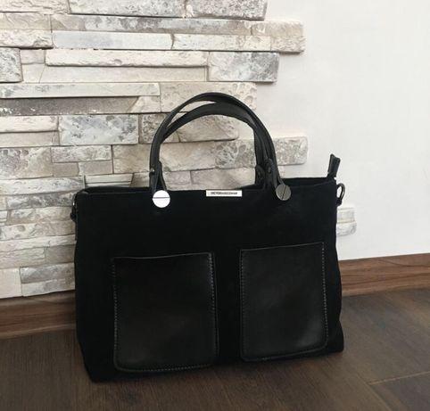 Victoria Bekham Черная сумка среднего размера