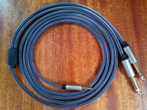 Аудио кабель 2 Джек - 1 Мини Джек