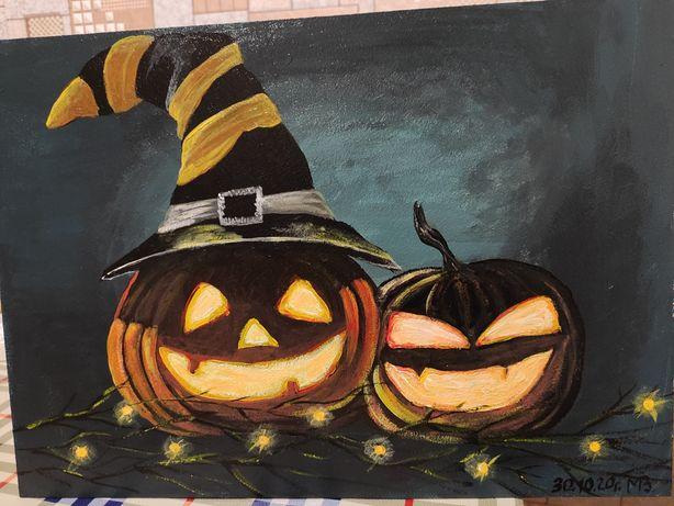 Картина акрил хеллоуин