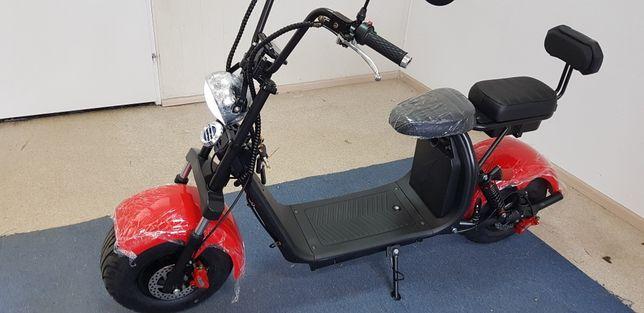 Hulajnoga elektryczna skuter. Mocny, szybki, solidny, piękny 2 baterie