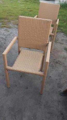 Krzesła ogrodowe z technoratanu