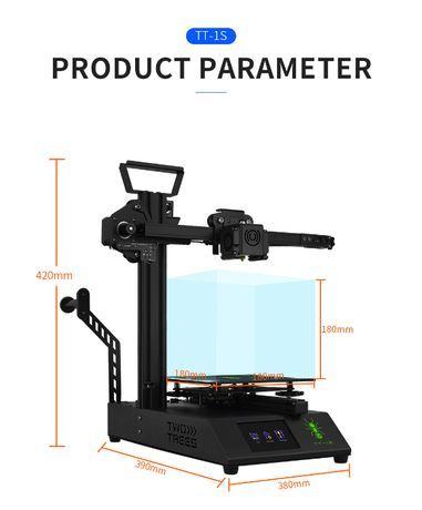 Twotrees 3D-принтер 150 мм * 150 мм * 200 мм