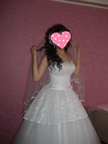 свадебное платье( можно на прокат)