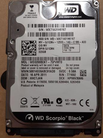 """Disco WD Scorpio Black 2,5"""" - SATA 7200 RPM (320 Gb)"""