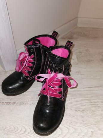 Buty wysokie czarne rozmiar 30