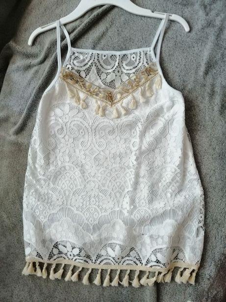 Modna biała bluzka