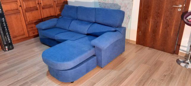 Sofá Chaise Long Azul
