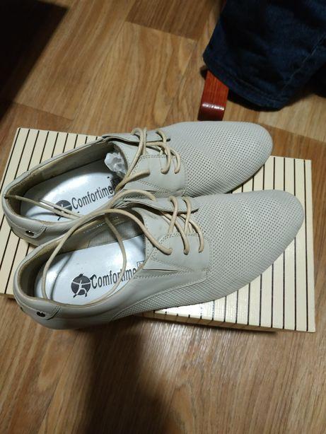 Туфли мужские, натуральная кожа