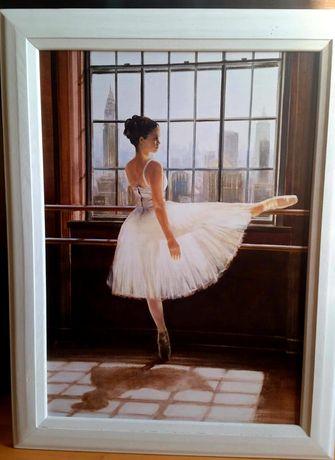 Obraz baletnica, drewniana rama