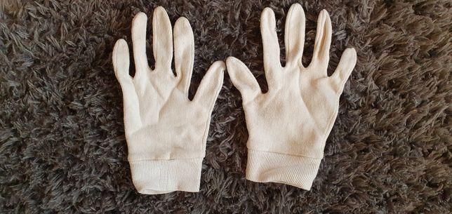 Bawełniane rękawiczki kosmetyczne