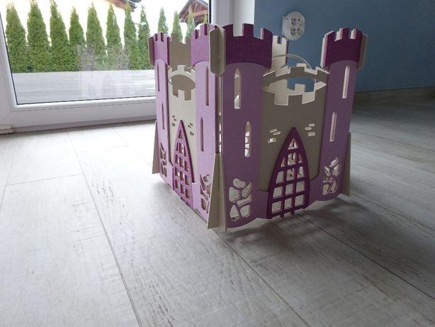 Lampa castle zamek do pokoju dziecięcego różowa Nowodvorski