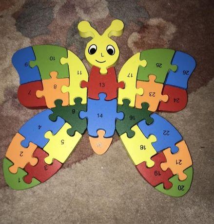 Игрушка пазл бабочка