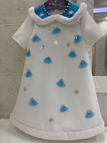 Новогодний костюм платье Снежинка
