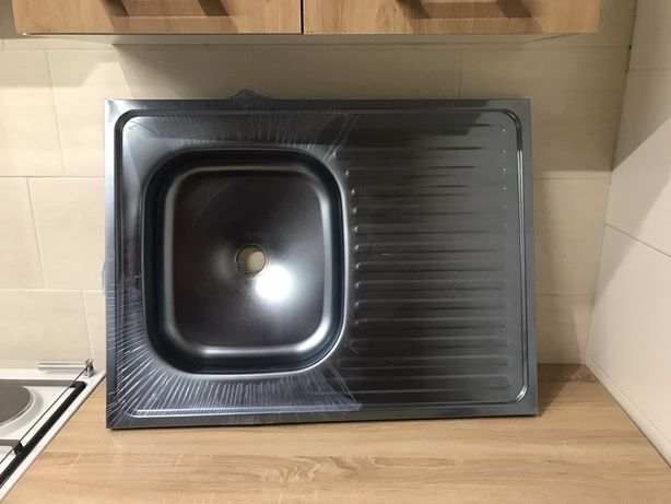 Мийка для кухні із нержавіючої сталі 80/60см