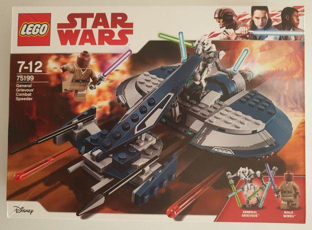 Lego STAR WARS 75199 Ścigacz bojowy generała Grievousa NOWY bez Windu