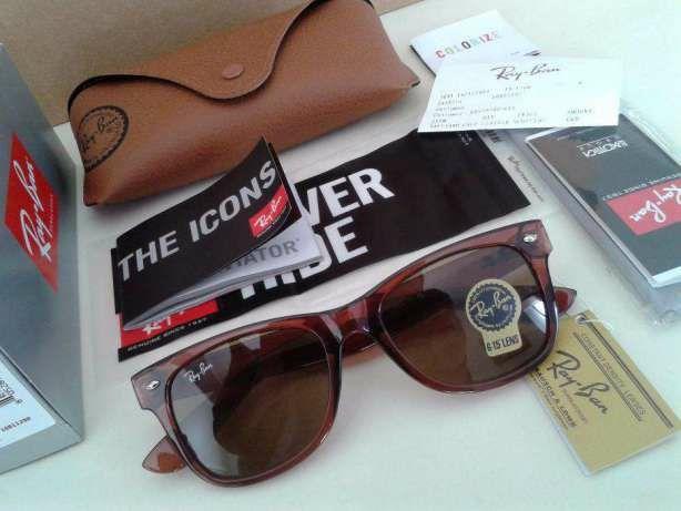 Óculos sol 2140 wayfarer castanho tortoise 4165 rayban óculos sol