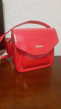 Сумка стильна червона Баліна