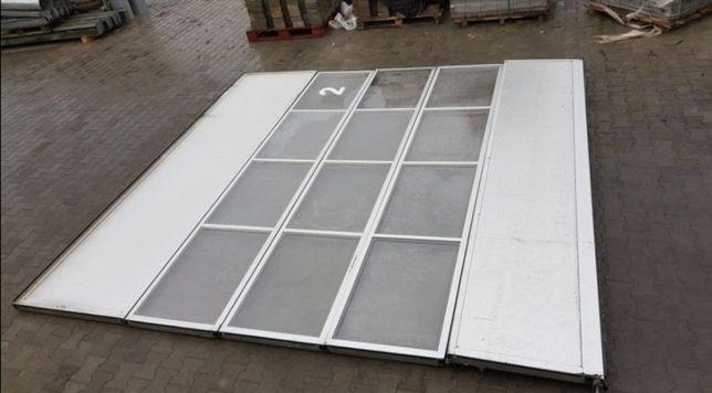 Brama segmentowa,garażowa,przeszklona,aluminiowa,izolowana 4.00 x 4.00