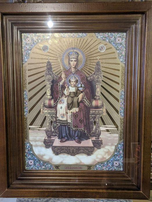 Ікона Богородиці в рамці / икона Божьей Матери Луцьк - зображення 1
