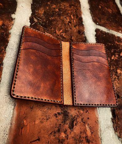 Portfel Slim EDC, Card Holder, Portfel Męski, skórzany portfel,