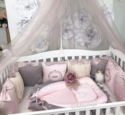 Бортики в кроватку, подушки в кроватку Николь