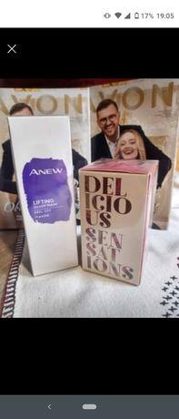 Avon - kosmetyki: maseczka i perfum