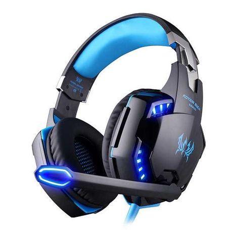 Игровые наушники Kotion Each G2000 с микрофоном + подсветка Blue
