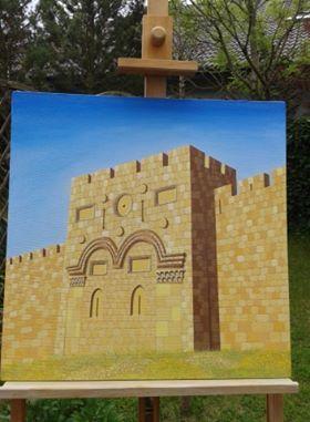 Obraz Złota Brama Jerozolima na płótnie 50x50 cm