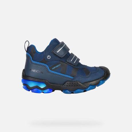 GEOX BULLER Świecące buty botki śniegowce wodoodporne, rozmiar 28