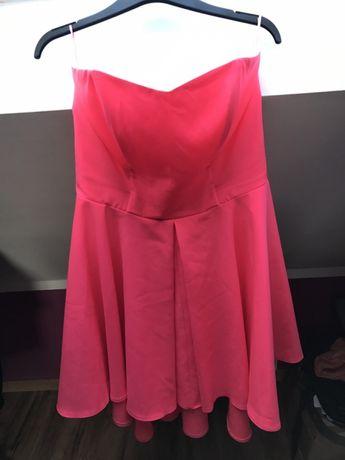 Sukienka neonowy róż