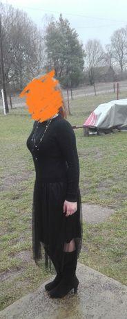 Тепла чорна вечірня сукня