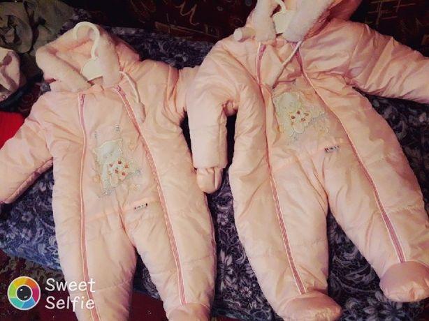 Дитячі зимові комбінезони