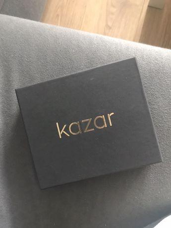 czarny portfel skórzany męski KAZAR nowy