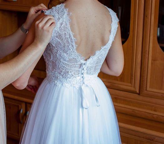 suknia ślubna na 160 cm + koło i welon