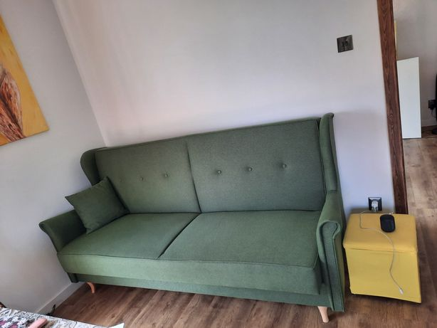 Sofa rozkładana uszak zielona