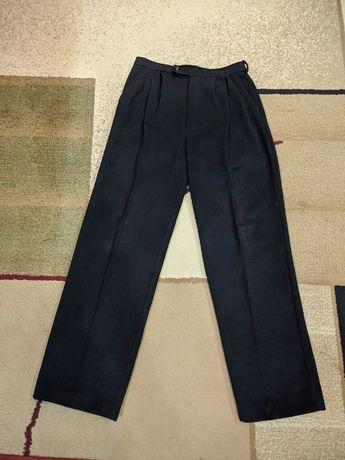 Чёрные мужские шерстяные брюки 46/48 (78 см талия)