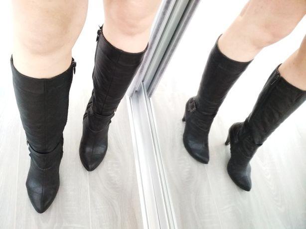 Зима шкіра чоботи 36 р ( зимние кожа сапоги сапожки ботинки )