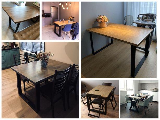 Стол кухонный в стиле Лофт loft стеллаж стол з дерева стіл круглый