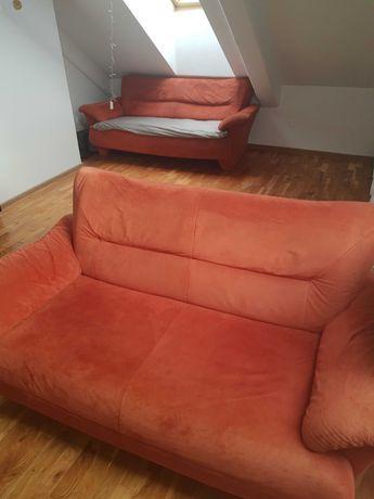 Dwie sofy 3+2  kolor pomarańczowy