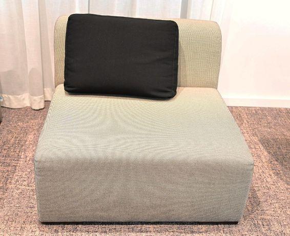 Sofa kostka z oparciem 2 szt