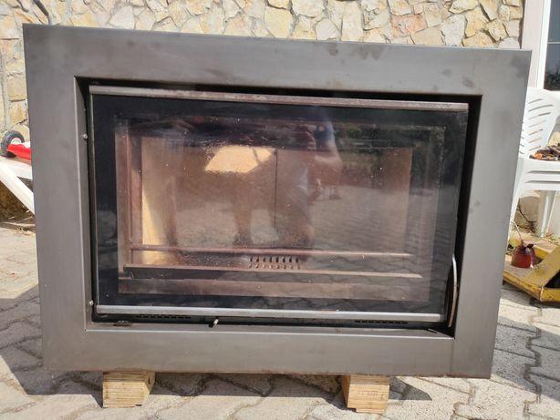 Recuperador de calor a lenha ventilado