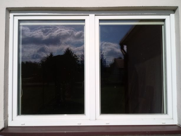 Okno PCV 2-szybowe 2065 x 1435 kolor biały.