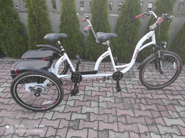 Rower Tandem Trójkołowy Rehabilitacyjny dla Osoby NiepełnosprawnejNOWY